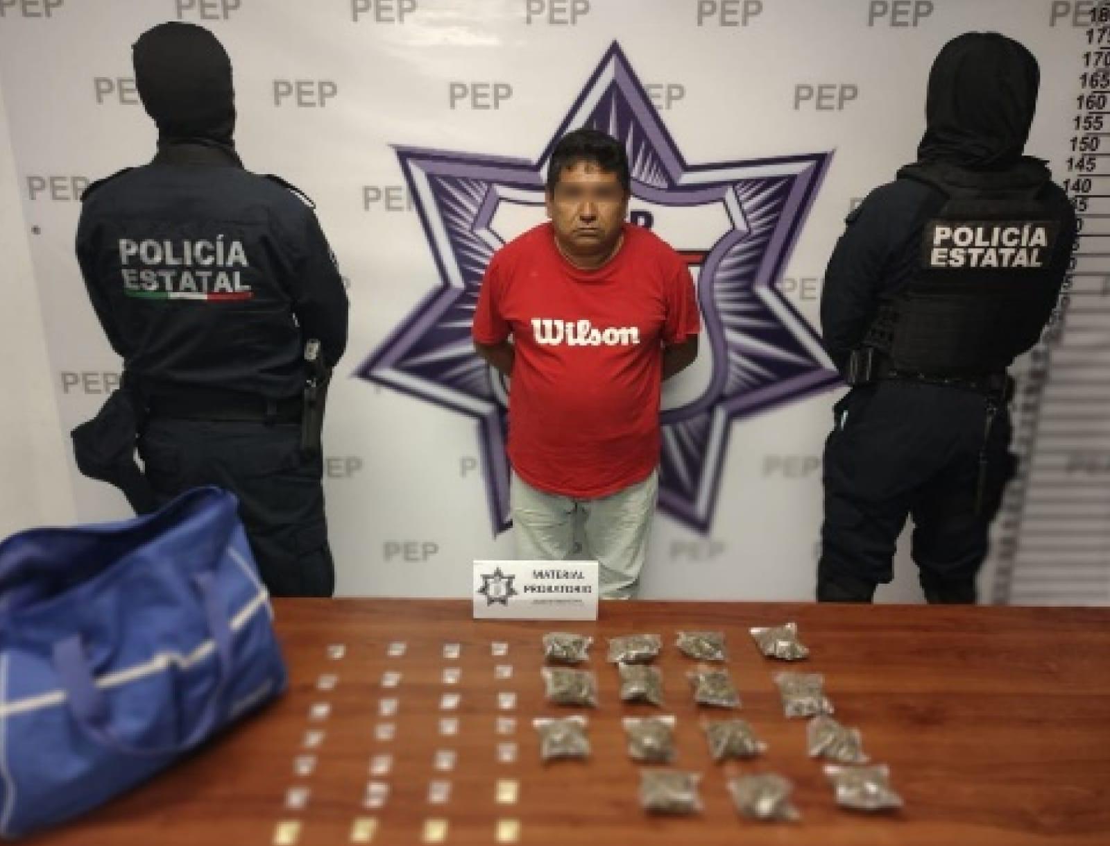 Detiene SSP a presunto narcomenudista en el Periférico