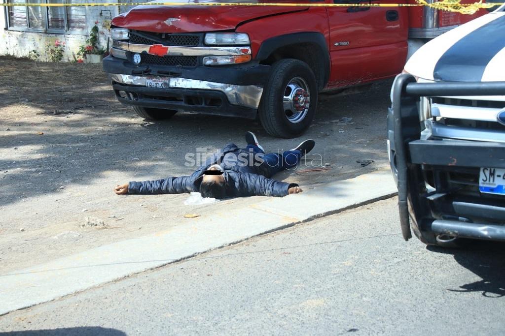 Abaten a balazos a ladrón de camión y secuestrador en Cholula