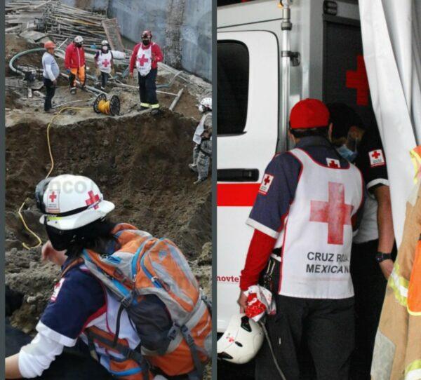 Muere un hombre y tres están desparecidos en derrumbe de obra en Texmelucan