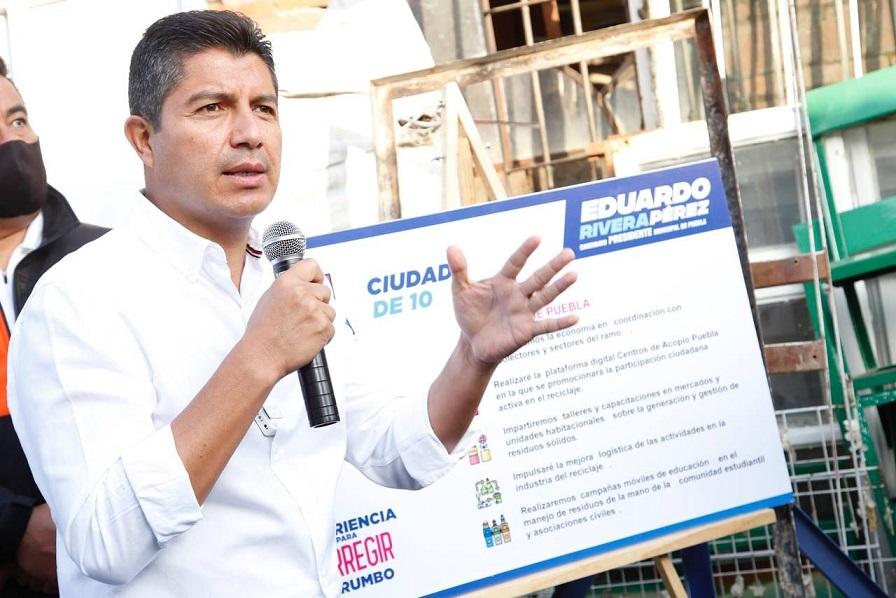 Pide Eduardo Rivera a autoridades garanticen seguridad el día de elección