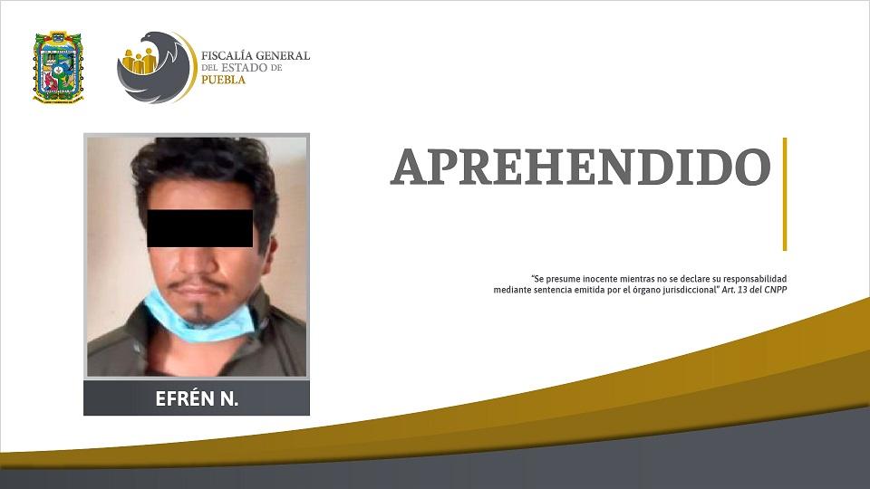 Capturan a Efrén N en Chiapas, feminicida de Susana Cerón y será trasladado a Puebla