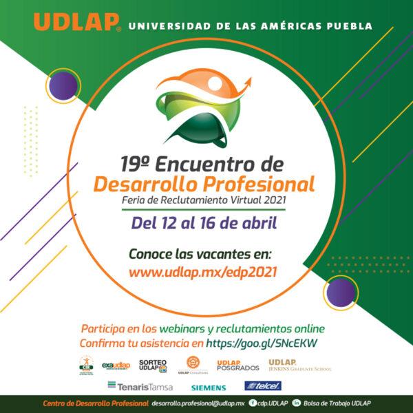 Alista UDLAP su 19° Encuentro de Desarrollo Profesional 2021