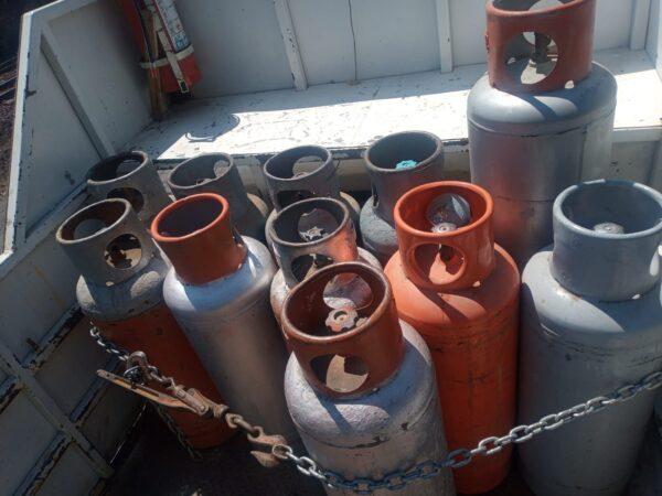 Por no acreditar legal procedencia de gas LP, SSP detiene a dos