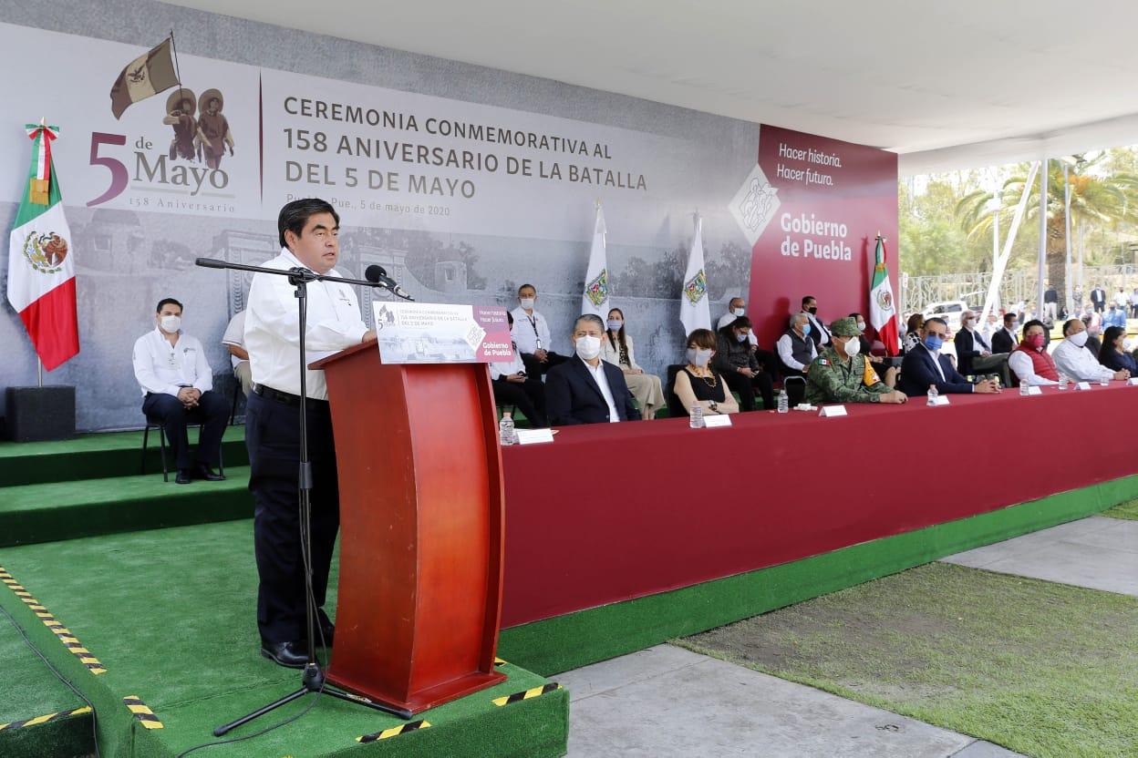 Funcionarios de AMLO son bienvenidos a Ceremonia del 5 de Mayo: Barbosa