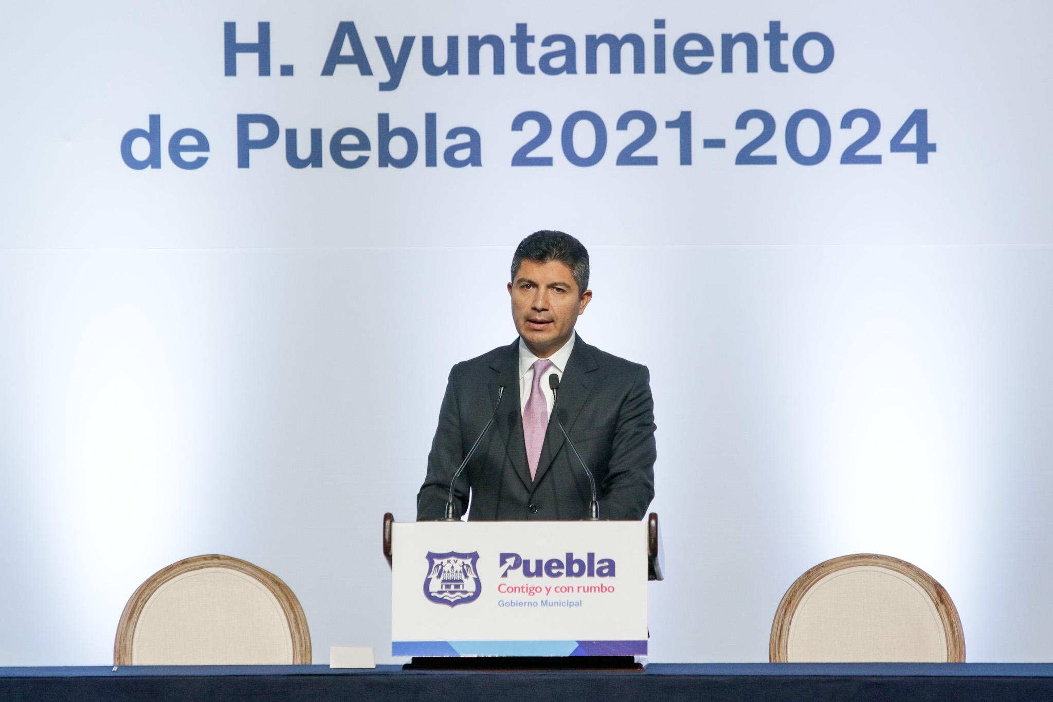 Ofrece Eduardo Rivera estrategia conjunta en Seguridad con Barbosa, GN y Sedena para Puebla