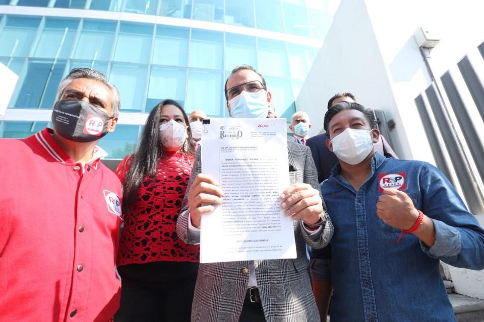 Presenta Redes Sociales denuncia penal contra Claudia Rivera por peculado y desvío de recursos en campaña