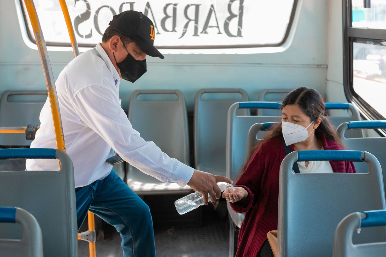 Vigila SMT cumplimiento de medidas sanitarias en transporte público