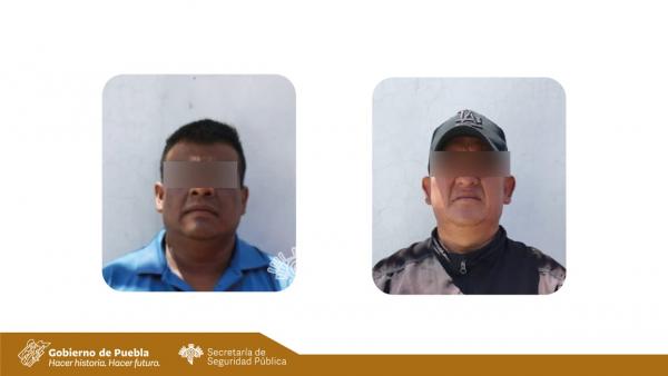 Detiene SSP a Oswaldo y a Rafael por fingir que eran policías de Puebla