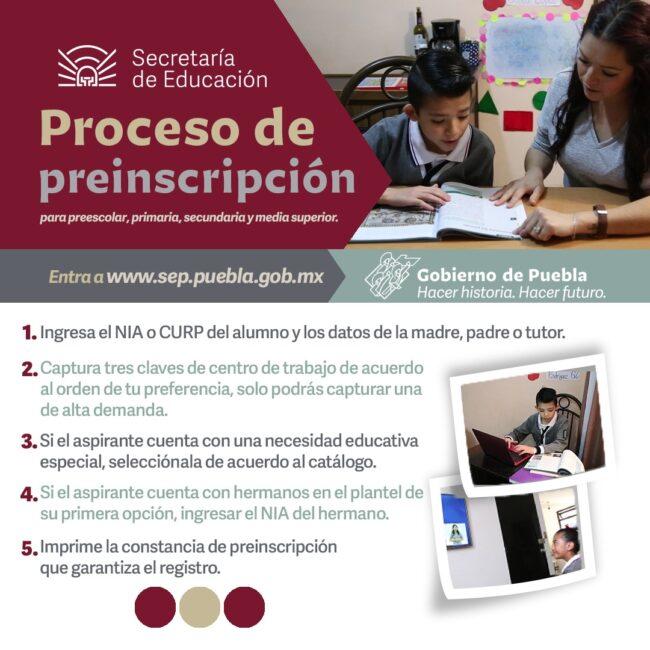 Inicia SEP proceso de preinscripción en el estado